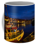 Whitby Upper Harbour At Night Coffee Mug