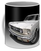 White 1966 Mustang Coffee Mug