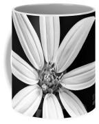 White And Black Flower Close Up Coffee Mug