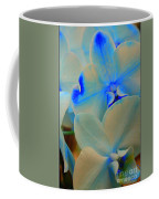 White And Blue Orchid Coffee Mug