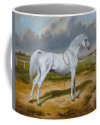 White Arabian Stallion Coffee Mug