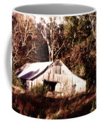 White Barn In Autumn Coffee Mug