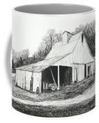 White Barn On Bluff Road Coffee Mug