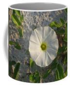 White Beach Flower Coffee Mug