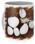 White Beach Rock Vignette Coffee Mug