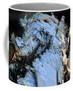 White Birch Log Coffee Mug