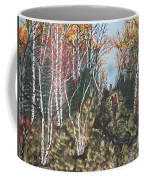 White Birch Trail Ride Coffee Mug