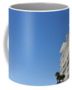 White Building And Palm Trees Coffee Mug