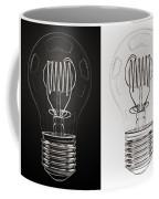White Bulb Black Bulb Coffee Mug