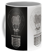 White Bulb Black Bulb Coffee Mug