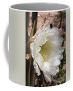 White Cactus Bloom Coffee Mug