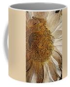 White Cactus Flower Gold Leaf Coffee Mug