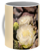White Cactus Rose Coffee Mug
