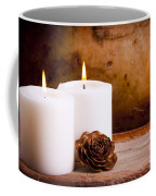 White Candles With Rose Coffee Mug