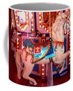 White Carousel Horse Coffee Mug