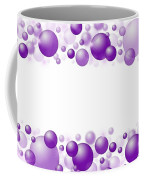 White Christmas Background With Purple Balls. Coffee Mug