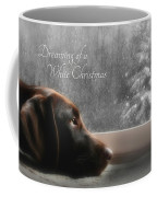 White Christmas Coffee Mug by Lori Deiter