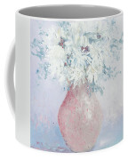 White Chrysanthemums Coffee Mug by Jan Matson