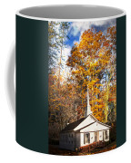 White Church In Autumn Coffee Mug