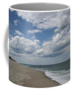 White Clouds Over The Ocean Coffee Mug