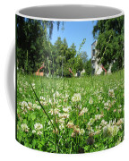 White Clover Field And The Playground Coffee Mug