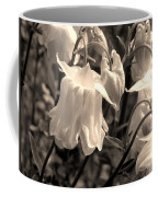 White Columbine Lanterns Monochrome Horizontal Coffee Mug