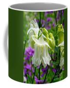 White Columbine Lanterns Verticle Coffee Mug