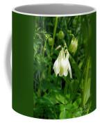 White Columbine On Green Coffee Mug