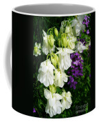 White Columbine With Purple Phlox Coffee Mug