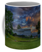 White Columns Under Evening Skies Coffee Mug