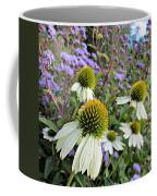 White Coneflowers Coffee Mug