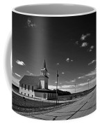 White Country Chuch And Road Coffee Mug