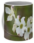 White Cross Flowers Coffee Mug