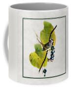 White Crowned Finch Square Coffee Mug