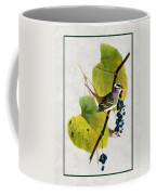 White Crowned Finch Vertical Coffee Mug