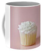 White Cupcake On Pink Coffee Mug