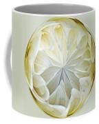 White Dahlia Orb Coffee Mug