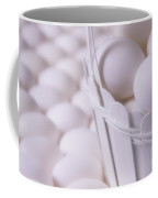 White Eggs In White Basket Coffee Mug