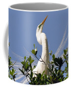White Egret In Spring Coffee Mug