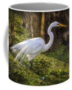 White Egret On The Hunt Coffee Mug