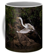 White Egret's Approach   #0615 Coffee Mug