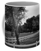 White Fence On The Wooded Green Coffee Mug