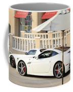 White Ferrari At The Store Coffee Mug