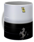 White Ferrari-emblem And Gril Coffee Mug