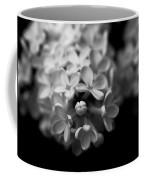 White Flowers In Black And White Coffee Mug