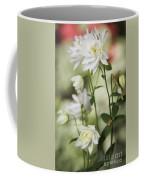 White Frilly Columbines Coffee Mug