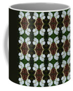 White Geranium Pattern Coffee Mug