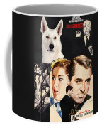 White German Shepherd Art Canvas Print - Suspicion Movie Poster Coffee Mug