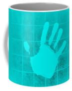 White Hand Aquamarine Coffee Mug