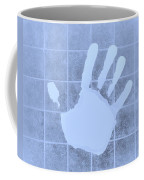 White Hand Cyan Coffee Mug